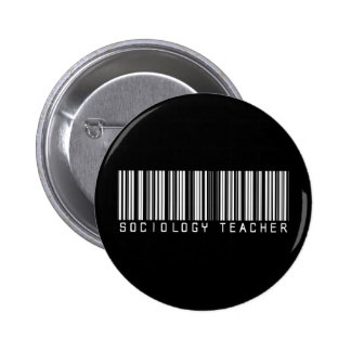 Sociology  Teacher Bar Code 2 Inch Round Button