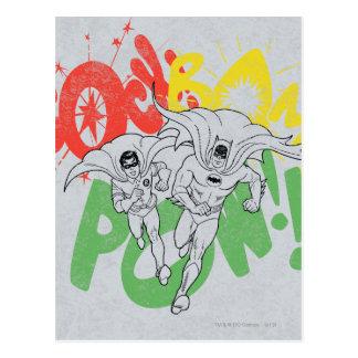 SOCK BAM POW Batman and Robin Postcard