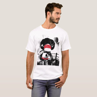 Sock doll handmade Monkey Character Graphic tee. T-Shirt