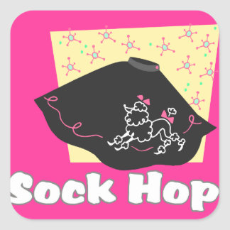 Sock Hop Square Sticker