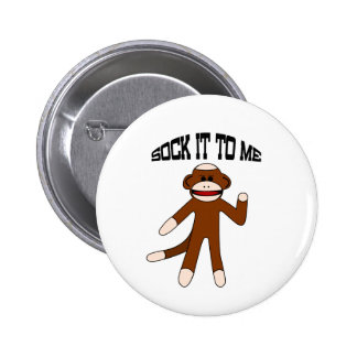 Sock It To Me Sock Monkey 2 Inch Round Button