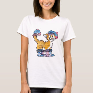 Sock Kitty Ladies Fitted T-shirt
