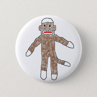 Sock monkey! 2 inch round button