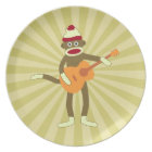 Sock Monkey Acoustic Guitar Plate