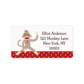 Sock Monkey Address Labels