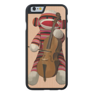 Sock Monkey and Cello 2 Carved® Maple iPhone 6 Slim Case