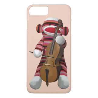 Sock Monkey and Cello 2 iPhone 7 Plus Case
