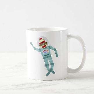 Sock Monkey Astronaut Basic White Mug