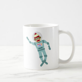 Sock Monkey Astronaut Coffee Mug