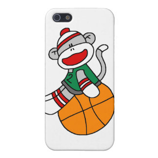 Sock Monkey Basketball and Gifts iPhone 5/5S Cover