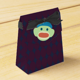 Sock Monkey & Bee Favor Box