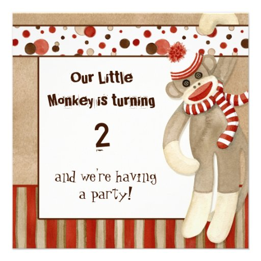 Sock Monkey Birthday Invitations is the best ideas you have to choose for invitation example