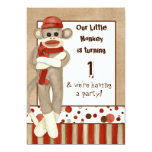 Sock Monkey, Birthday Party Invitation
