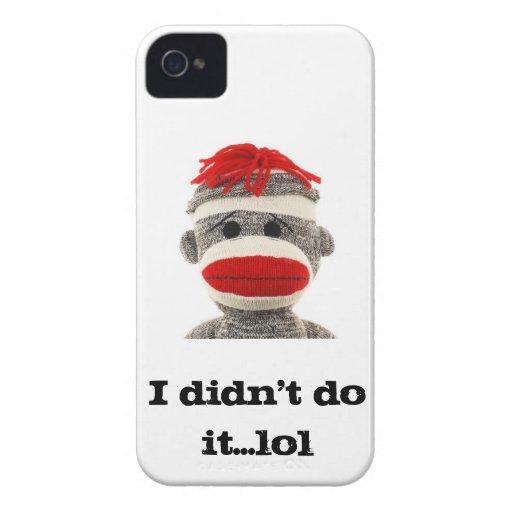 Sock Monkey Blackberry case..