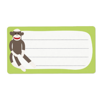 Sock Monkey blank label