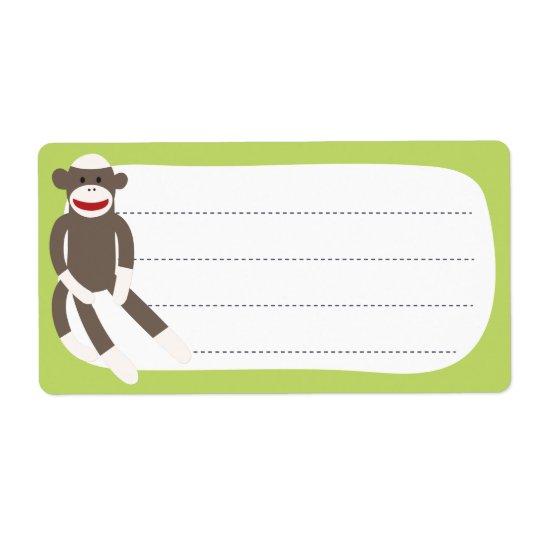 Sock Monkey blank label