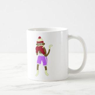 Sock Monkey Boxer Classic White Coffee Mug