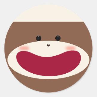 Sock Monkey Boy Sticker