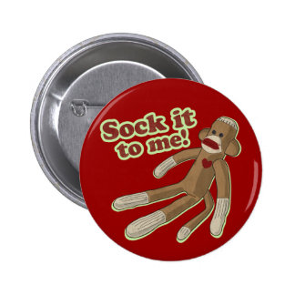 Sock Monkey Button