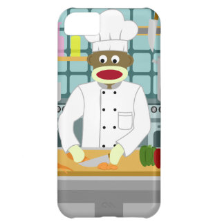 Sock Monkey Chef iPhone 5C Cover
