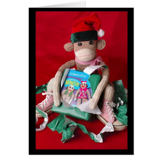 Sock Monkey Christmas Card