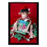Sock Monkey Christmas Cards