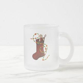 Sock Monkey Christmas Mug