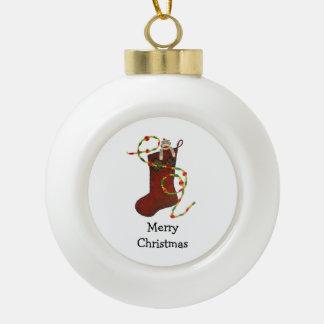 Sock Monkey Christmas Ornament