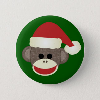 Sock Monkey Christmas pin
