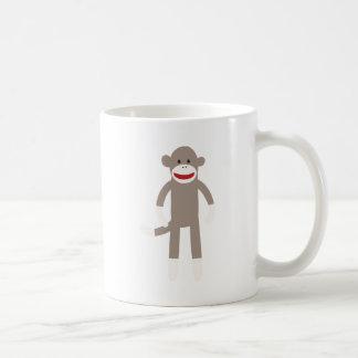 Sock Monkey Classic White Coffee Mug