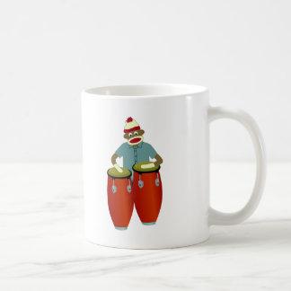 Sock Monkey Conga Drums Classic White Coffee Mug