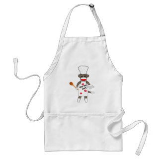 Sock Monkey Cook by lil kolohe Jessica - Apron