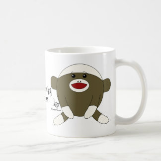 Sock Monkey Cuddles Classic White Coffee Mug