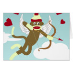 Sock Monkey Cupid Cards