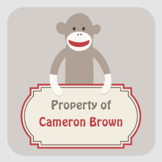 Sock Monkey customized sticker