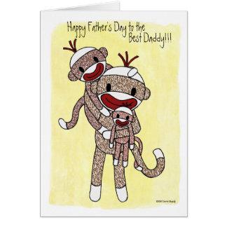 Sock Monkey Daddy 02 Card