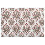 sock monkey damask cotton fabric