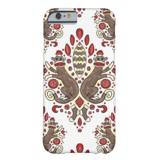 sock monkey damask iphone case barely there iPhone 6 case