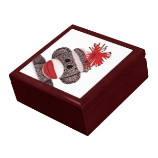 Sock Monkey Design Gift Jewelry Box