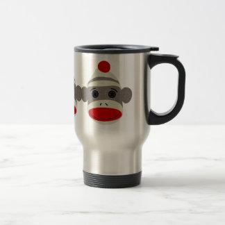 Sock Monkey Face 15 Oz Stainless Steel Travel Mug