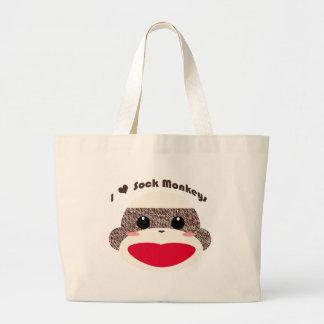 Sock Monkey Face Classic Bags
