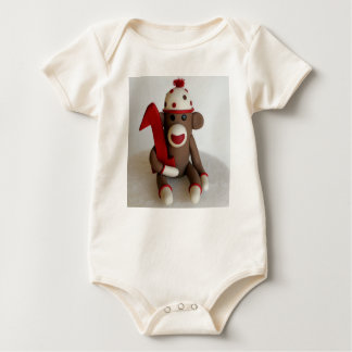 Sock Monkey First Birthday Baby Bodysuit