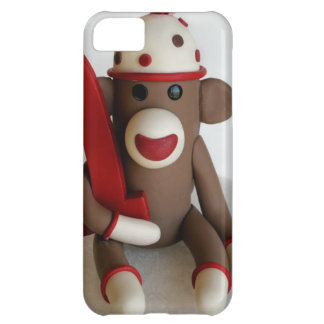 Sock Monkey First Birthday iPhone 5C Cases