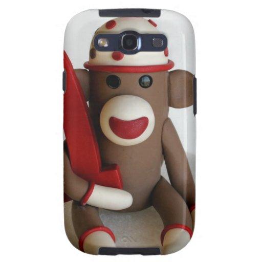Sock Monkey First Birthday Samsung Galaxy S3 Covers