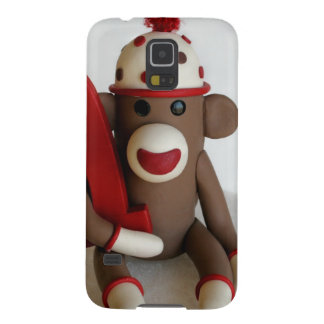 Sock Monkey First Birthday Cases For Galaxy S5