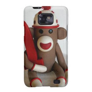 Sock Monkey First Birthday Galaxy S2 Cover