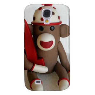 Sock Monkey First Birthday Galaxy S4 Cover