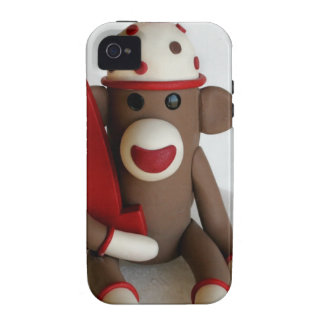 Sock Monkey First Birthday Vibe iPhone 4 Cases