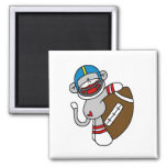 Sock Monkey Football T-shirts and Gifts Refrigerator Magnets