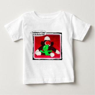Sock Monkey & Froggy Bestest Pals Baby Baby T-Shirt